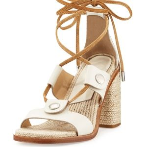 💥 NWOT Rag & Bone Eden Lace-Up Raffia Sandals